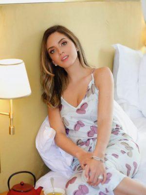 Pijama Macaron Verde Celadon Estilo Capri