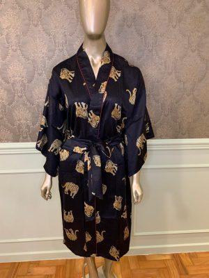 Kimono Estampa Tigre Midi