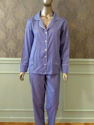 Pijama Tradição Listrado Blue Marine