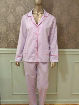 Pijama Tradição Lavender com Pink