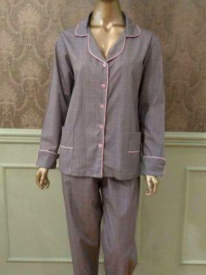 Pijama Príncipe de Gales Feminino