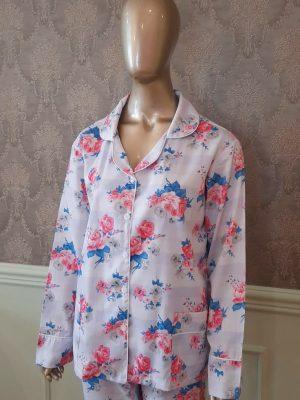 Pijama Floral Blue & Cherry