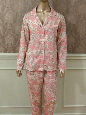 Pijama Toile de Jouy Rosa Antigo