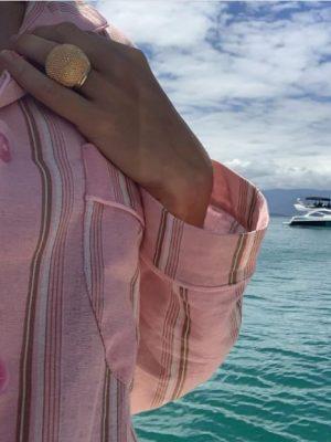 Chemise Stripe Rosa
