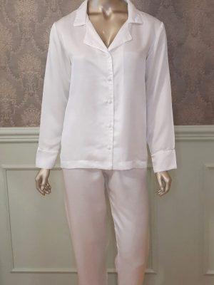 Pijama de Seda Branca