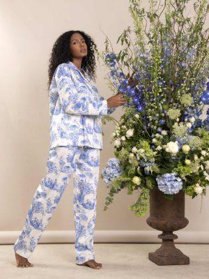 Pijama Toile de Jouy Azul