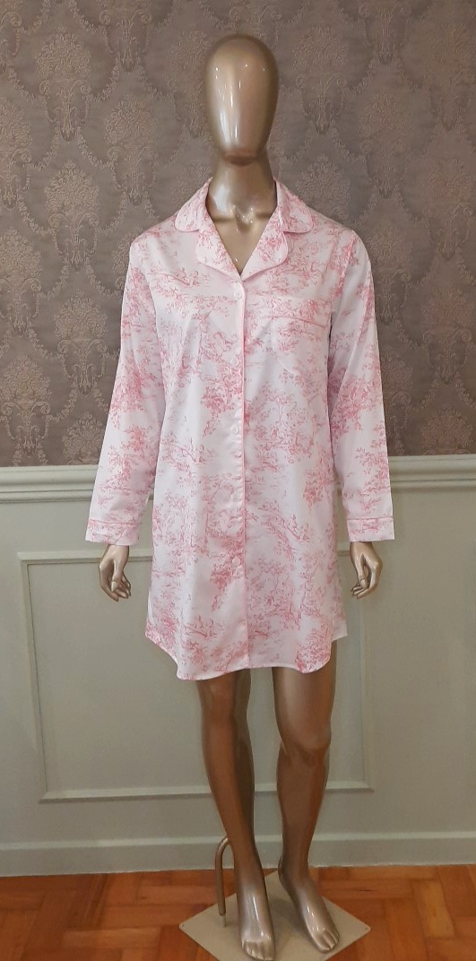 Manequim veste chemise toile de jouy rosa
