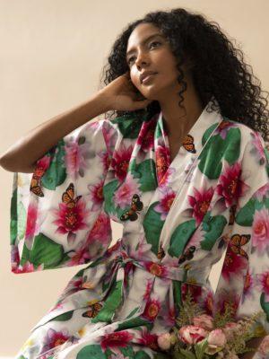 Kimono Midi Lótus Branco
