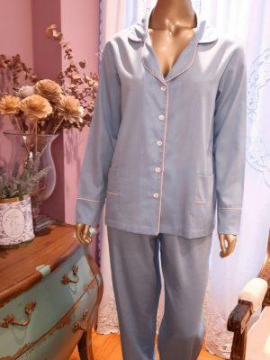 Pijama Gravataria Azul Vivo Rosa