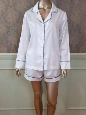 Pijama Desireé Tradição Branco
