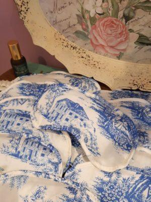 Máscara de Dormir Toile de Jouy Azul
