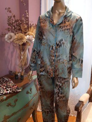Pijama Onça Turquesa