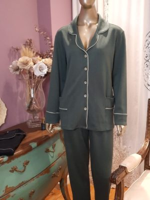 Pijama Espinha de Peixe Vert Ela