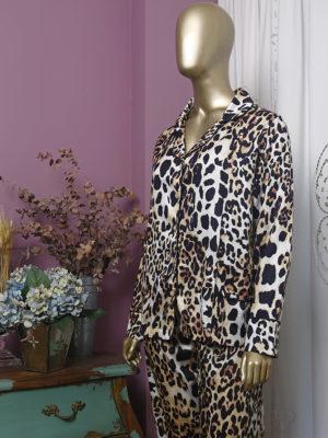 Pijama Leopardo Debrum Preto