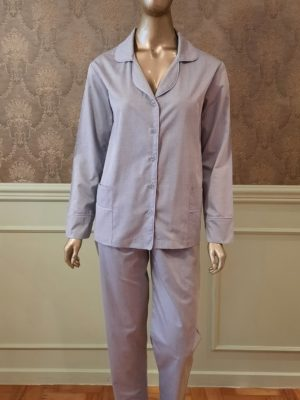 Pijama Gravataria Cinza debrum Lavanda