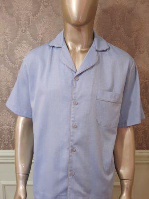 Pijama Curto Gravataria Azul