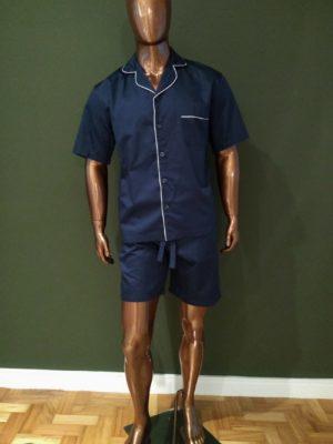 Pijama Curto Tradição Marinho