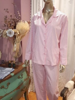 Pijama Listrado Rosa