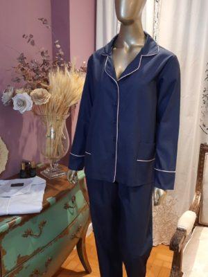 Pijama Midnight Blue & Blush.