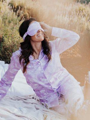 Pijama Toile de Jouy Lavanda