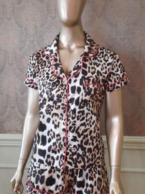 Pijama Valentine Leopardo Debrum Pink
