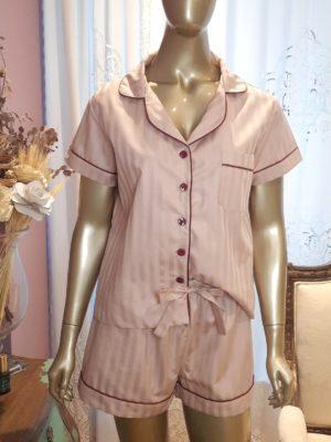 Pijama Valentine Maquinetado Rose