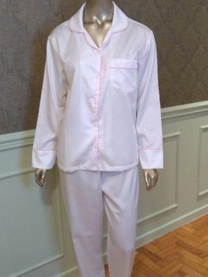 Pijama Tradição Branco Ela