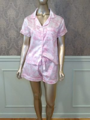 Pijama Valentine Toile de Jouy Rosa