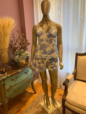 Pijama Violette Toile de Jouy Azul