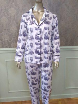 Pijama Toile de Jouy Marinho